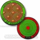 Optical Illusions Geocoin Retina Burning Green