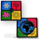 Four Seasons Geocoin - Black Nickel