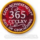 Patch 365 Days of Geocaching Geo-Achievement
