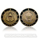 By Your Command Geocoin Antique Gold Black