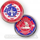 Firefighters Geocoin
