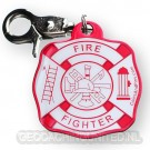 Firefighter Accountability Tag - Red/White