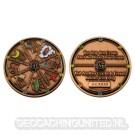 Geocacher's Day Geocoin - Antique Copper