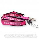 Geocaching lanyard - Pink