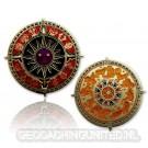 Zodiac Compass Geocoin - Antique Gold