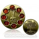 The Real Climb Geocoin - Antique Gold