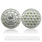 The Colors of Geocaching Geocoin - OPTIMISM - Satin Silver LE (100)