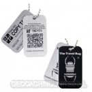 Geocaching QR Travel Bug® - Black