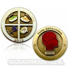 Geocaching - All In One Geocoin 2013 Antique Gold
