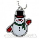 Snowman Travel Tag