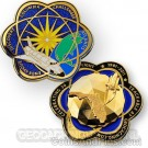 Space Shuttle Geodesic Geocoin 3D - Polished Gold