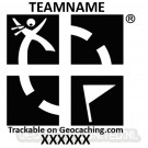 Groundspeak & Teamname Stamp - Pocket 25x25