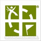 3 x 3 Geocaching Logo Sticker - Green / White