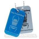 Geocaching QR Travel Bug® - Blue