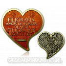 Filigrana Love Geocoin - Antique Gold - Topaz LE 100