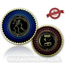 I Love Nightcaches Geocoin - Antique Gold - XLE 75