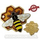 Travel Bee Geocoin - Satin Gold - LE 100