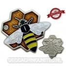 Travel Bee Geocoin - Satin Silver - LE 100
