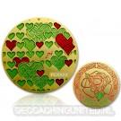 True and Eternal Love Geocoin - Satin Gold