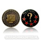 King of Mystery Geocoin - Antique Gold