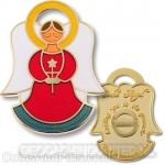 Angel Geocoin - Love Rood - Goud