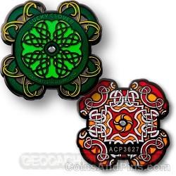 Celtic Lucky Clover Geocoin