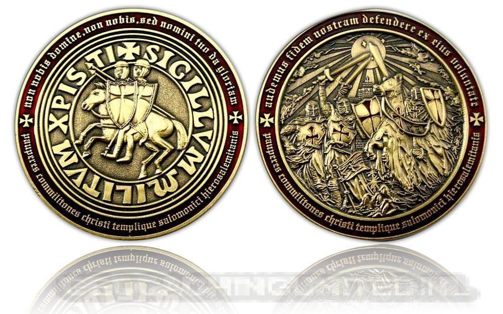 Templar MMXI Geocoin (II) - Antique Gold