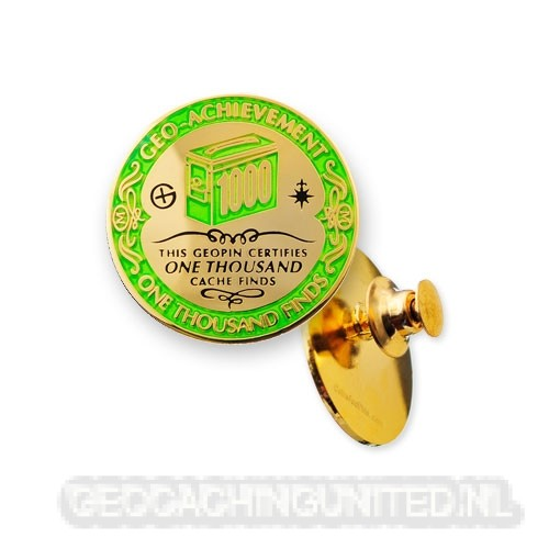 Geo-Achievement Pin - 1000 Finds