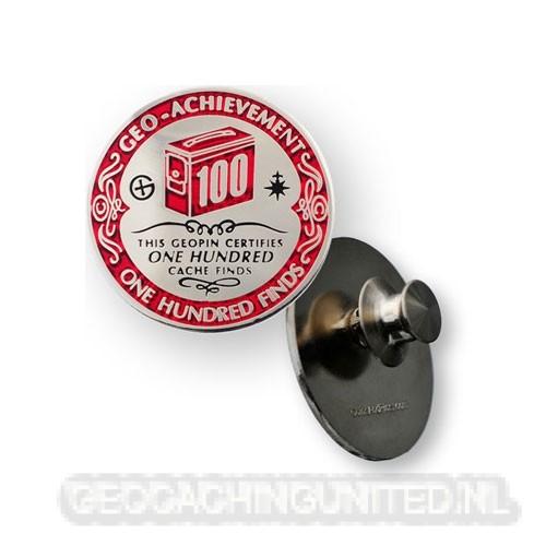 Geo-Achievement Pin - 100 Finds