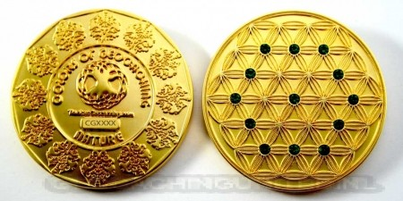 The Colors of Geocaching Geocoin - NATURE - Satin Gold LE (100 Coins)