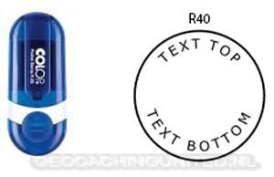 Log stempel - Pocket - 40 mm rond - Eigen tekst/logo
