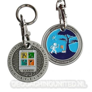 ROT13 Decoder Geocoin Key Chain