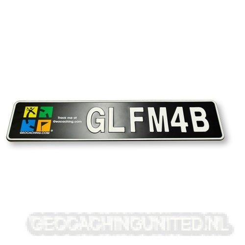 Geocaching License Plate - Europe size