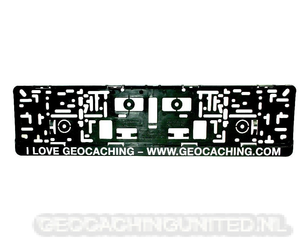 Car License Plate Holder 'Geocaching.com'