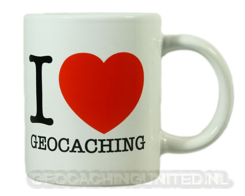 Mug - I Love Geocaching Heart