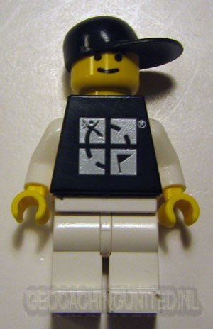 Trackable LEGO™ Figure - Black Tee / Black Hat