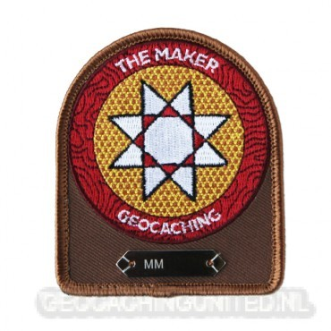 Camo Geocaching Logo Trackable Patch
