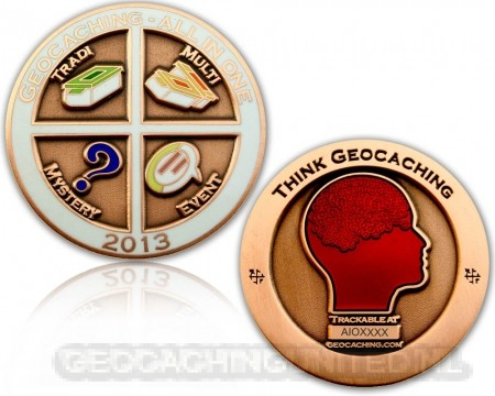 Geocaching - All In One Geocoin 2013 Antique Copper LE 100