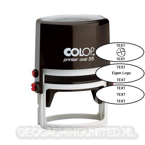 Log stempel - PRINTER - 55x35 mm OVAAL - Eigen tekst/logo