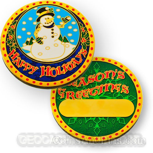 Happy Holidays Geocoin 2012