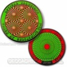 Optical Illusions Geocoin Retina Burning Groen