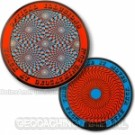 Optical Illusions Geocoin Retina Burning Rood