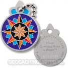Micro Compass Rose Geocoin