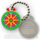 Micro Compass Rose Geocoin - 32 Point
