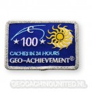 Patch 24 Hours 100 Caches Geo-Achievement