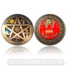 Unity Geocoin Antique Gold