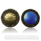 SpaceGate Geocoin Antique Bronce