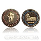 Gladiator Geocoin - Antique Gold