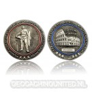 Gladiator Geocoin - Antique Silver