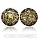 Templar MMXI Geocoin (II) - Antique Gold